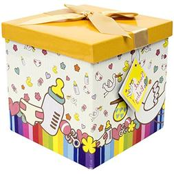 """Baby Gift Box 7""""X7""""X7"""" - Petit Bebe Collection - Easy to Ass"""