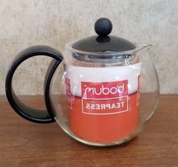 BODUM Glass Tea Press Coffee Pot Infuser 3 Cups NEW