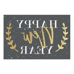 "CGSignLab |Gold Wreath Gray -New Year's 2018"" Perforated Win"