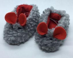 Lovvbugg Gray Mice Mouse Fuzzy Slippers for American Girl 18