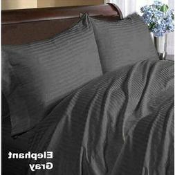 Grey Stripes 4-Pieces Sheet Set Sizes & Depth Pocket 1000TC