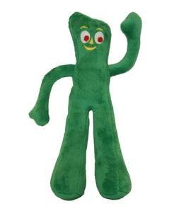 Multipet Gumby Plush Filled Dog Toy, 9-Inch