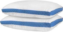 Utopia Bedding Gusseted Quilted Pillow  Set of 2 Premium Qua
