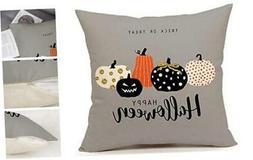 Halloween Pumpkin Throw Pillow Cover Cushion Case for Sofa C
