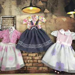 Handmade Fashion Doll Clothes Lace Stitching Casual Dress fo