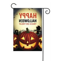 Happy Halloween Scary Pumpkin 12.5 x 18 inch Garden Flag Yar