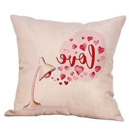 CUCUHAM Happy Valentine's Day Throw Pillow Case Sweet Love S