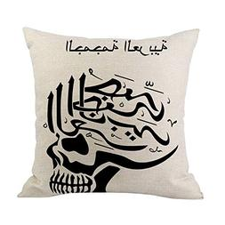 CUCUHAM Happy Valentine Pillow Cases Cotton Linen Sofa Cushi