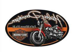 Harley-Davidson® 18 x 10.5 inch Fat Boy® B&S Oval Embossed