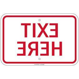 Heavy Gauge Exit Here Sign 12 x 18 inch Aluminum Signs Retai
