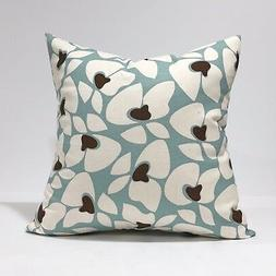 Helen Village Blue / Natural Throw PillowCase Lumbar Kidney