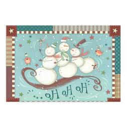 "CGSignLab |""Holiday Decor Ho Ho Ho Snowman"" Clear Window Cli"