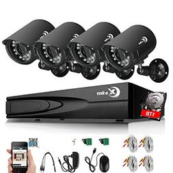 XVIM 8 Channel Home Security System 1080N DVR Recorder with
