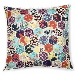Honeycomb Patchwork 18-inch Decorative Throw Pillow