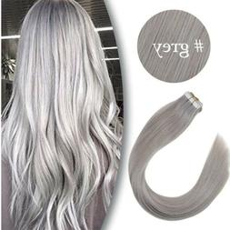 Ve Sunny Human Hair 100% Premium 18 inch TAPE EXTENSION GREY