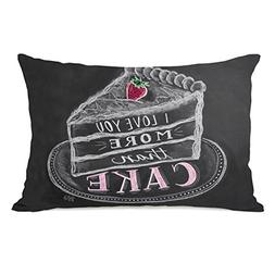 One Bella Casa I Love You More Than Cake Throw Pillow by Lil