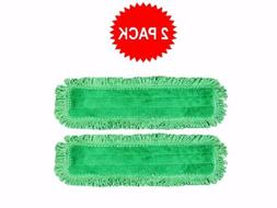 """2-pack of 18"""" Inch Green Fringe Microfiber Dust Mop Pads for"""
