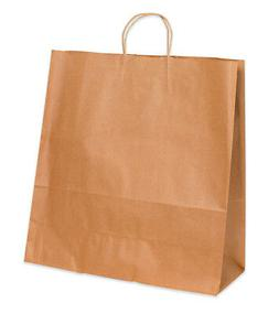 BOX Jumbo Shopping Bag - 18 x 7 x 18.75 - Kraft Paper - 200/