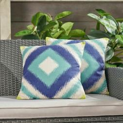 Karen Outdoor 18-inch Water Resistant Square Pillows
