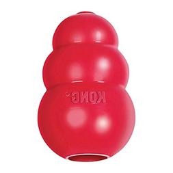 KONG - Classic Dog Toy - Durable Natural Rubber - Fun to Che