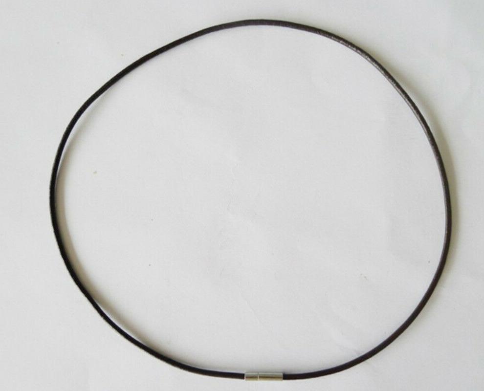 10 20 50pcs black leather necklace w