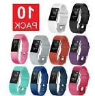 10 Pack Replacement Wristband For Fitbit Charge 2 Band Silic