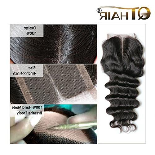 QTHAIR 130% Density Peruvian Loose Deep Wave Lace 100% Virgin Loose Deep Human Middle Lace