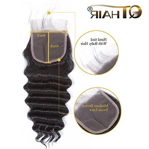 QTHAIR 10A Peruvian Loose Deep Lace 100% Loose Human Middle Lace