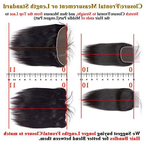 QTHAIR 10A Density Peruvian Loose Deep Lace Closure 100% Loose Middle Part Lace