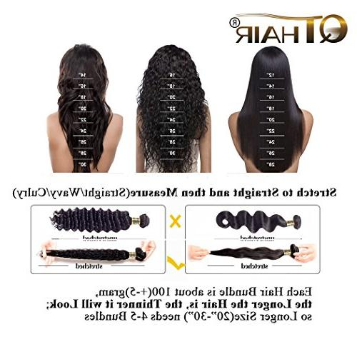 QTHAIR 10A Lace Closure Loose Deep Human Middle Lace