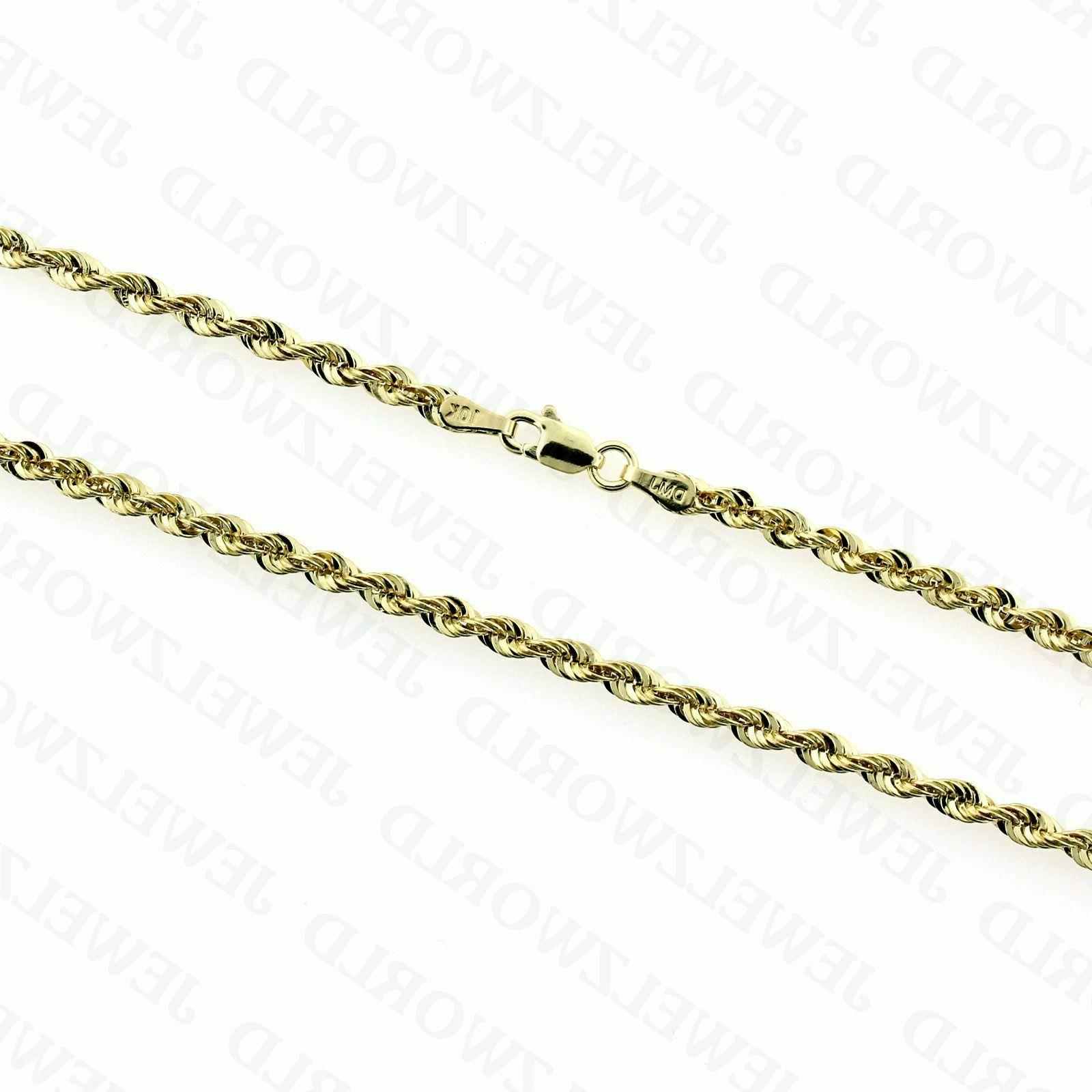"""10K Solid Yellow Necklace 22"""" 24"""" 26"""""""