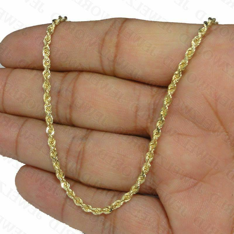 """10K Yellow Gold Necklace 2.5mm 16"""" 22"""""""