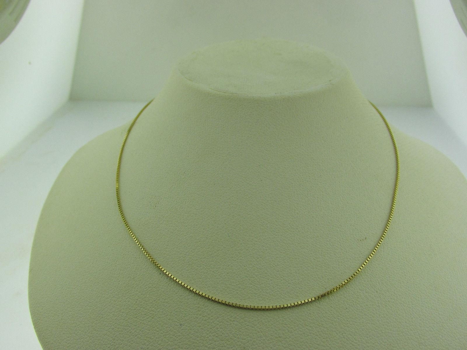 10kt Yellow Box Necklace inch 1.3