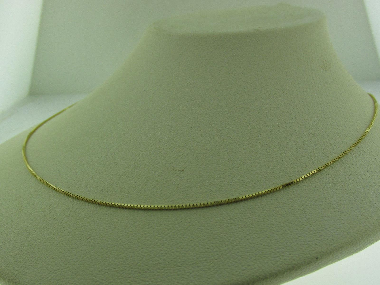 10kt Box Necklace