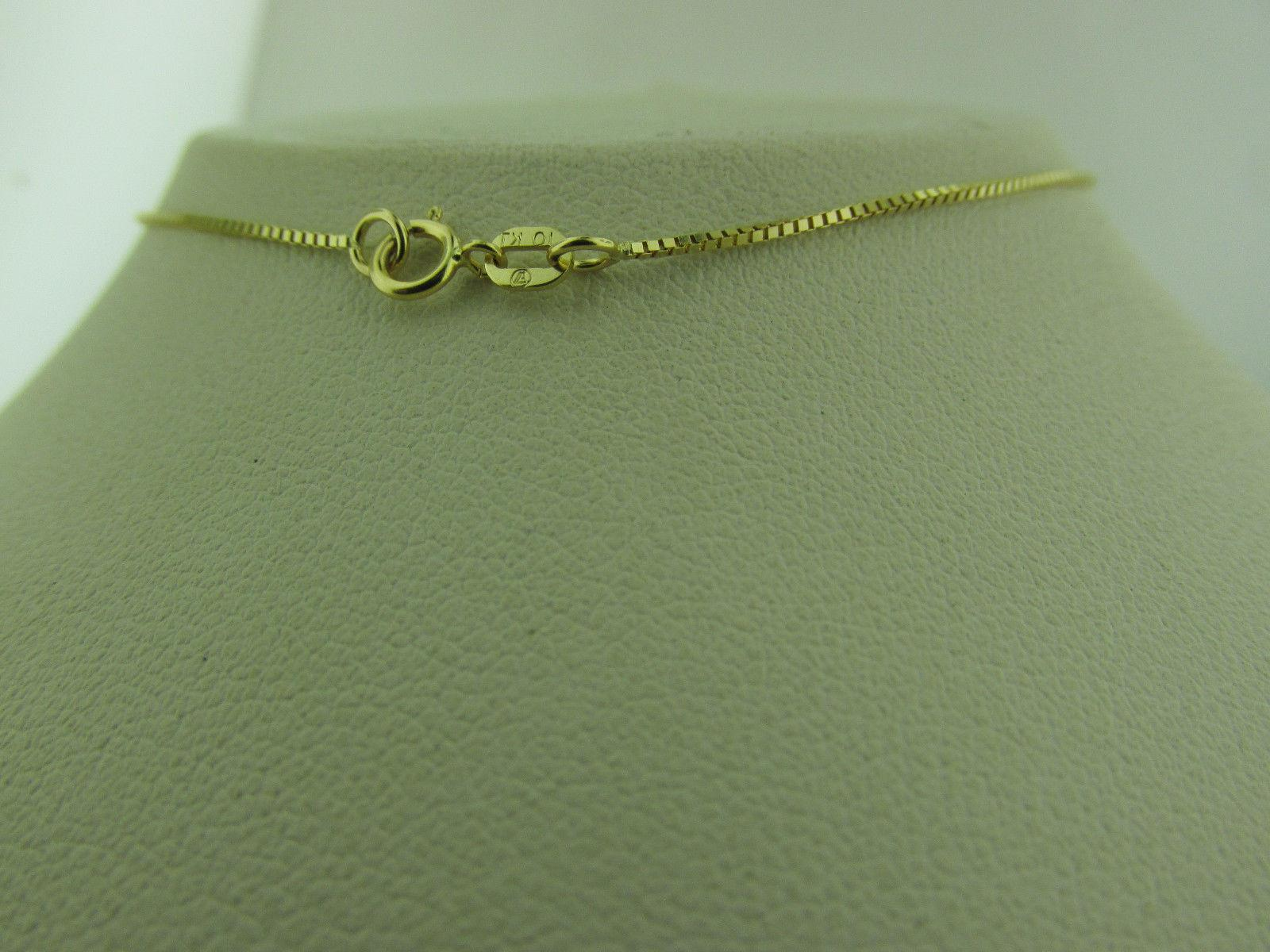 10kt Solid Yellow Gold Box Chain inch