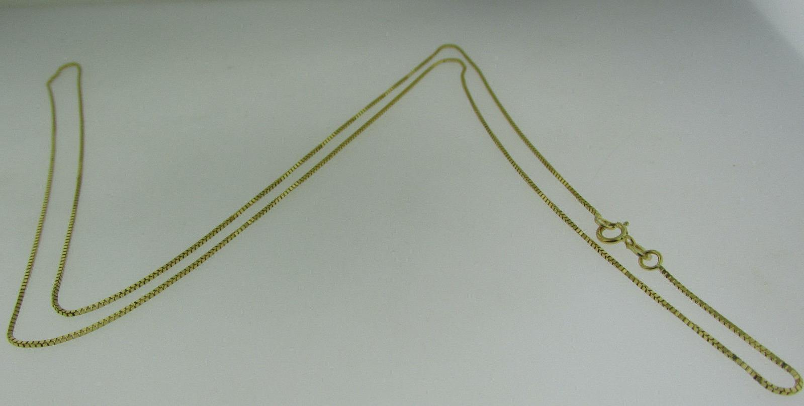10kt Solid Gold Box Chain inch 1.3