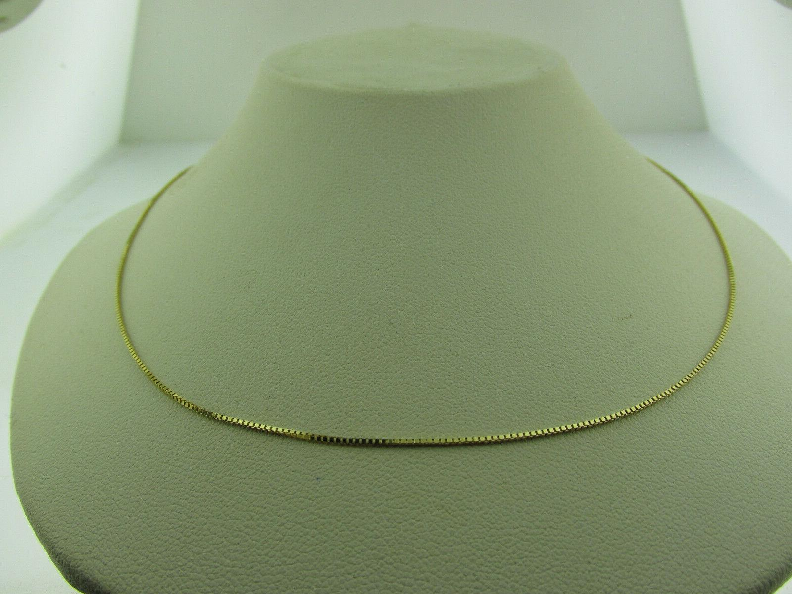 10kt solid yellow gold box chain necklace