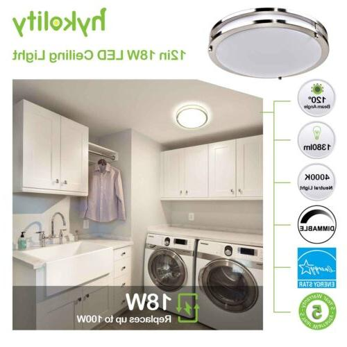 Hykolity Ceiling Light 18W 100W Dimmable