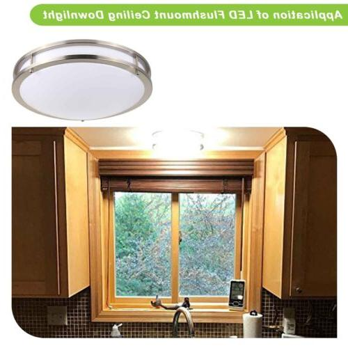 Hykolity 12 Ceiling 18W Equivalent 100W Round Dimmable