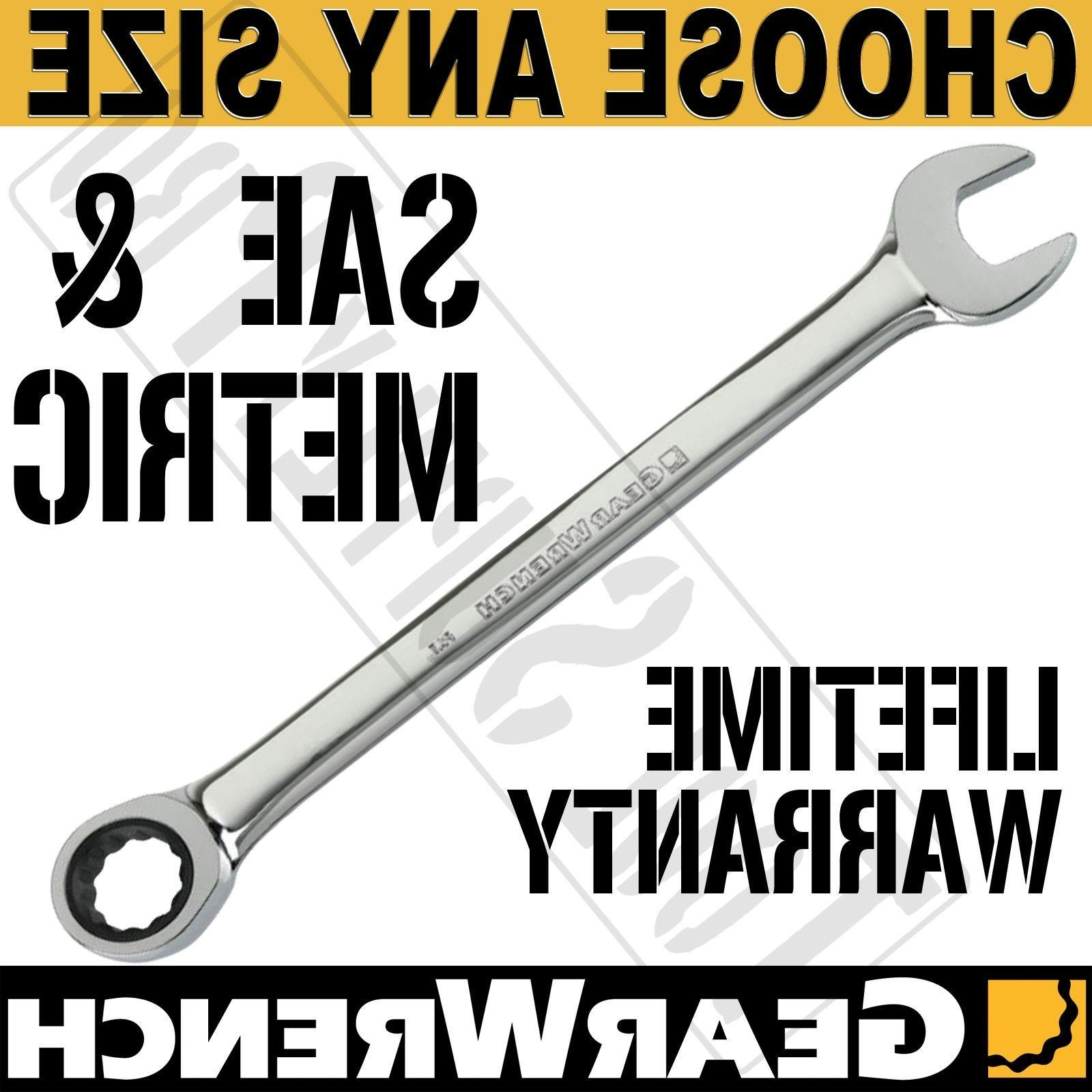 GearWrench 12 Point Combination Ratcheting Wrench INCH METRI