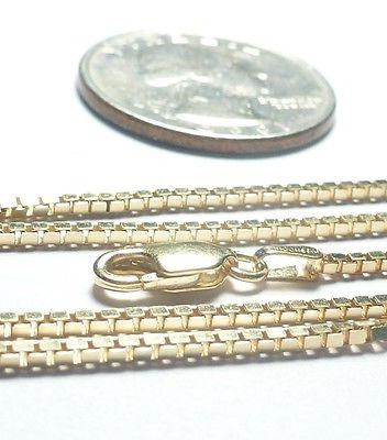 14kt Solid Gold 18 inch- White or Yellow GOLD Full 1.4MM Box