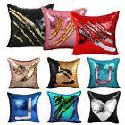 "16"" Magic Mermaid Pillow Case Reversible Sequin Glitter Sofa"