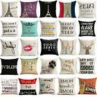 18'' Funny words cushion cover pillow case cover waist throw