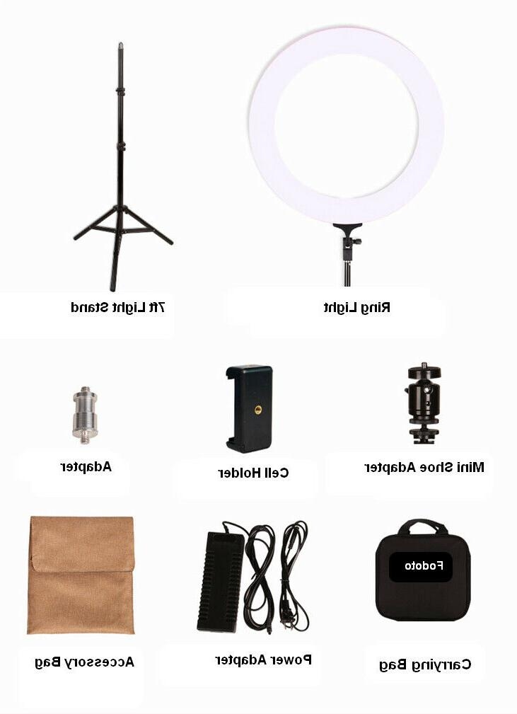 Fodoto LED Ring Light for Media and Beauty