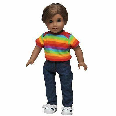 18 Inch Doll Clothes DENIM JEANS TEE SHIRT Fits Girl or