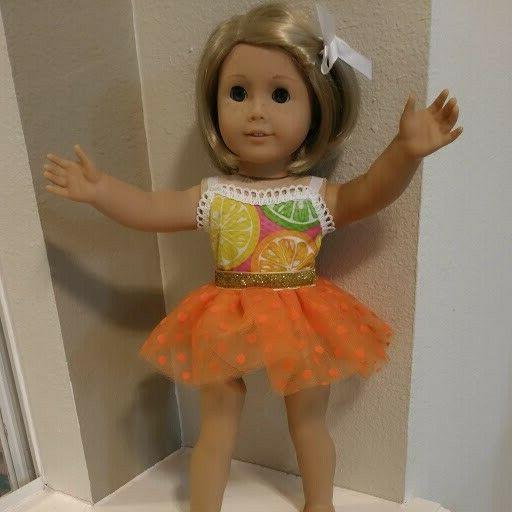 18 inch doll clothes orange tutu skirt