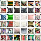 18 Inch Geometric Cotton Linen Throw Pillow Case Sofa Cushio