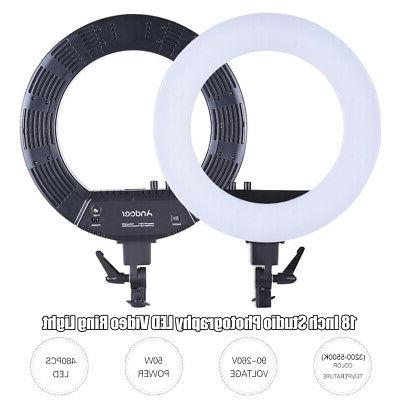 Andoer 18 LED Video Light Fill-in Lamp Photography 50W