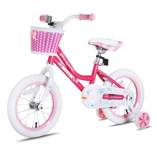 JOYSTAR 18 Inch Pink Kids Bike for Girls, Child Bicycle for