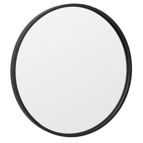Black Round Mirror 18Inch Circle Wall Mirror with Metal Fram